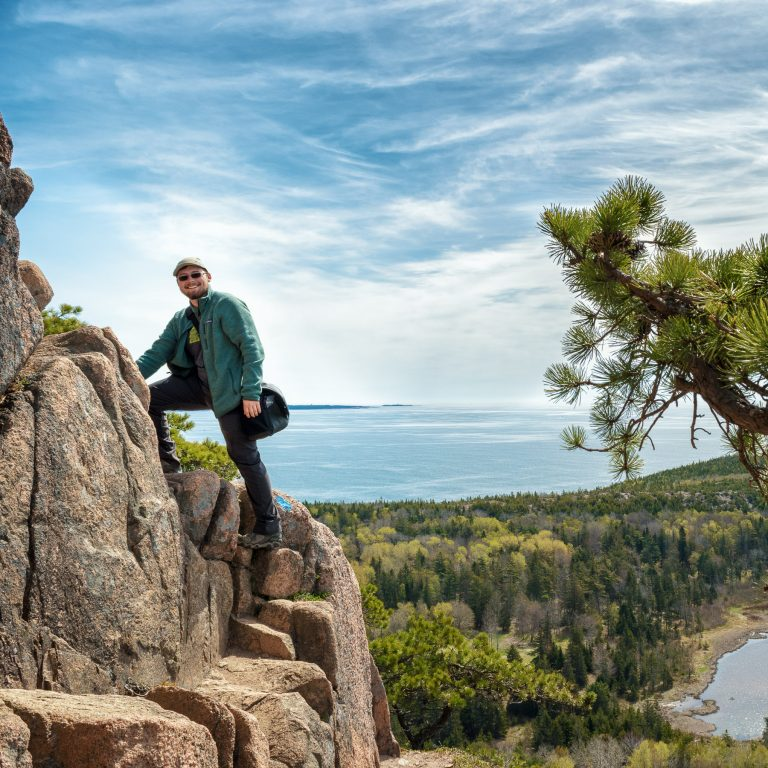 Kyle Brooks climbing The Beehive.