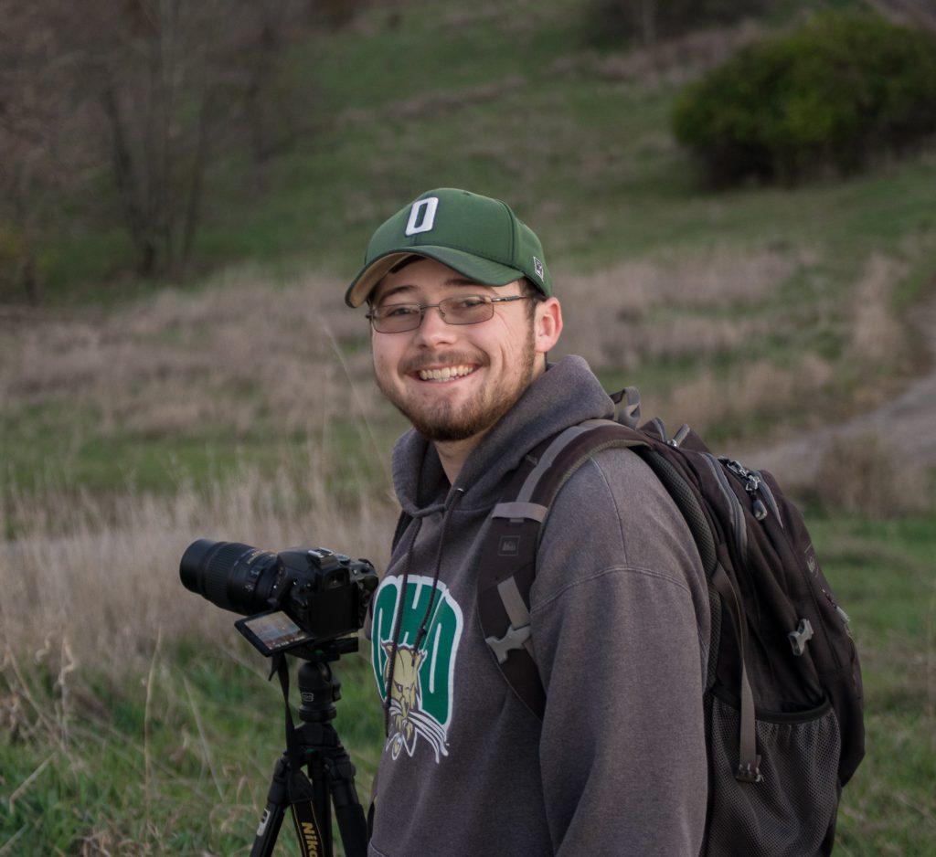 Photographer Kyle Brooks with Camera